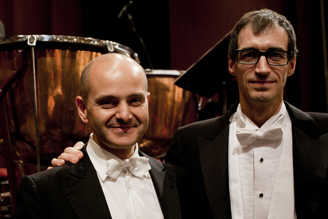 Brian Richard Earl (right) with Maurizio Simeoli